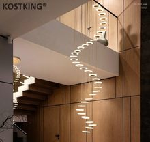 Moderno led lustre sala de estar luminária quarto luminárias escadas suspensas luzes restaurante pendurado iluminação luminária