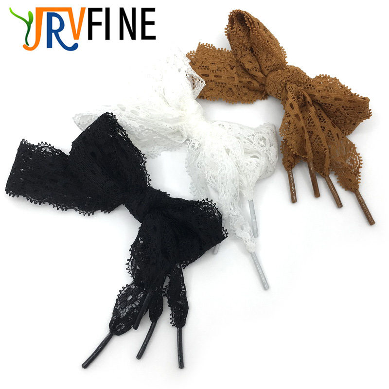 все цены на Flat Lace Shoelaces for Women YJRVFINE High Quality Nylon Super Elastic Shoe Laces Girls 3cm Wide Lace Shoe String[2 Pair] онлайн