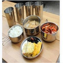 Outdoor picnic stainless steel hand bill of lading handle bento pot hiking pot camping barbecue cooking cookware picnic cookers outdoor picnic stainless steel hand bill of lading handle bento pot hiking pot camping barbecue cooking cookware picnic cookers