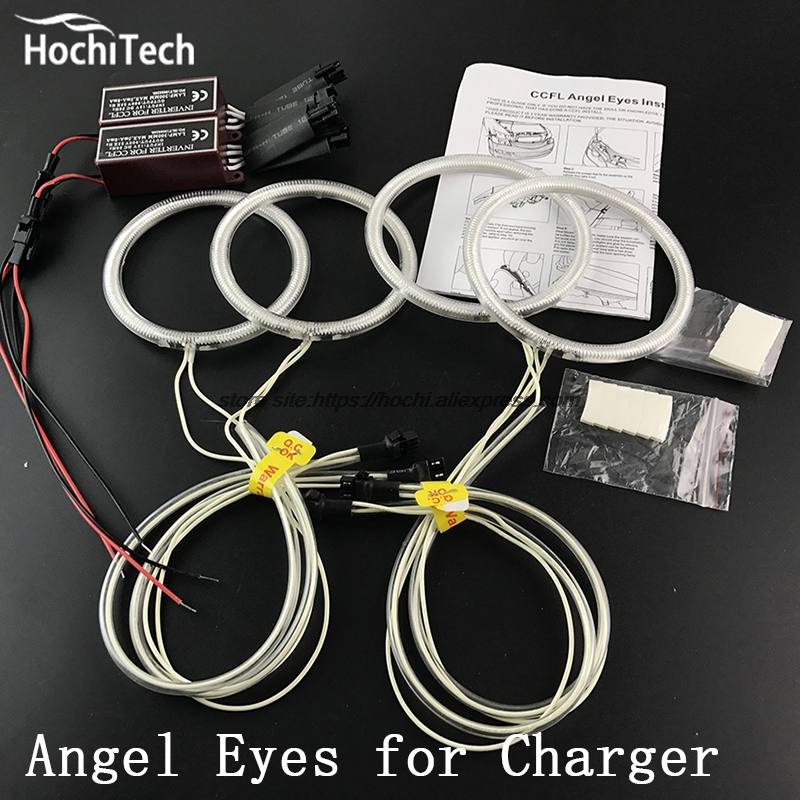 все цены на  HochiTech Excellent CCFL Angel Eyes Kit Ultra bright headlight illumination for Dodge Charger  2005 2006 2007 2008 2009 2010  онлайн