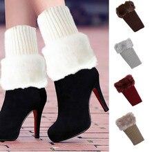 Feitong высокое качество женские зимние теплые вязаные гетры вязанные крючком Леггинсы Slouch Boot Socks2019 горячая Распродажа модный подарок