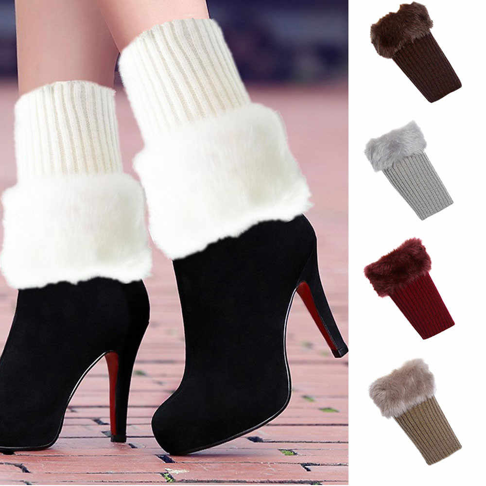 Feitong High Quality Women Winter Warm Knit Leg Warmers Crochet Leggings Slouch Boot Socks2019 Hot Sale Fashion Gift