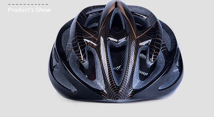 ZH42 GOXING Cycling helmet for Adults EPS PC Material size L57 63cm 220g black color bicycle