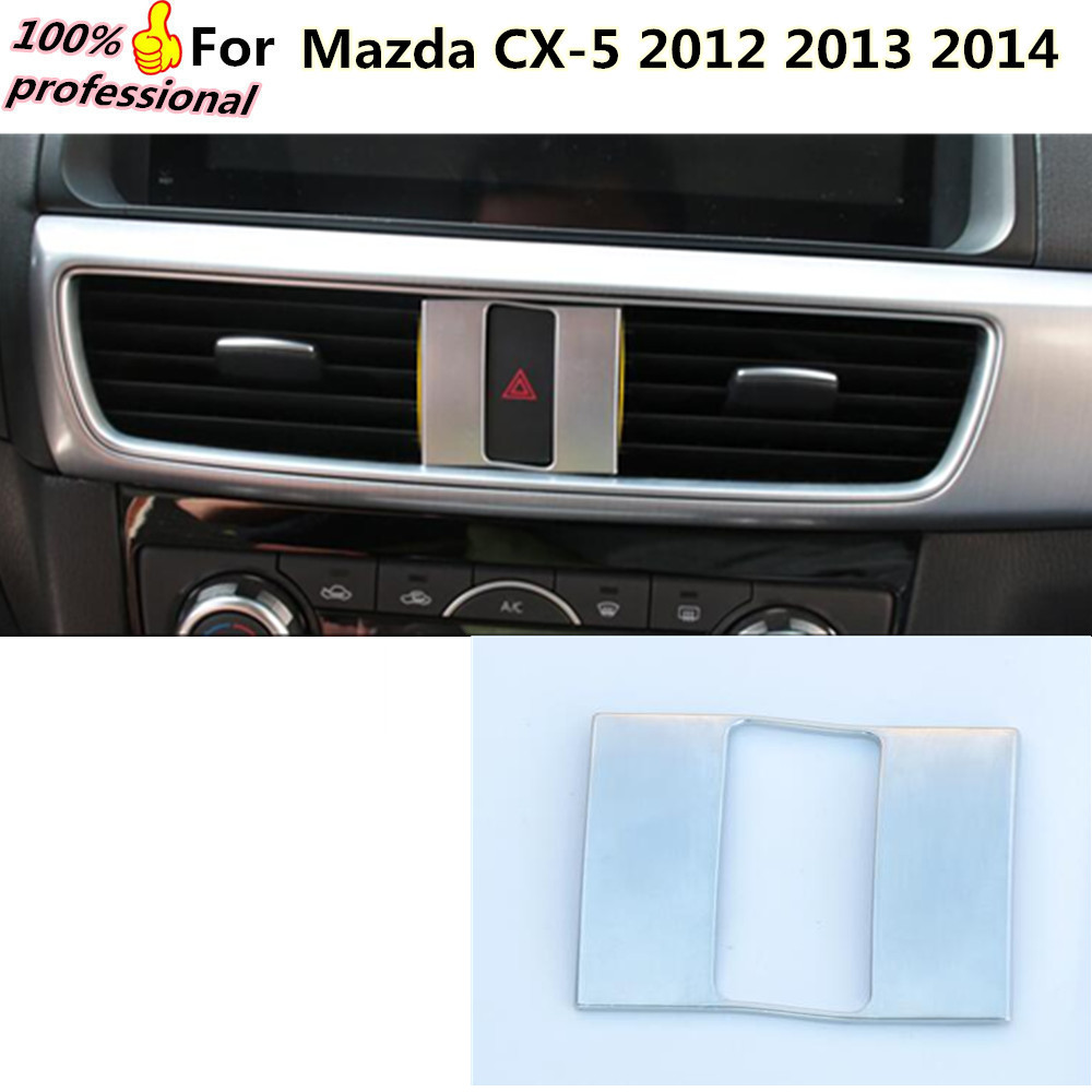 car detector stick styling cover ABS Parking hazard Warning light outlet Trim frame lamp 1pcs for Mazda CX-5 CX5 2012 2013 2014 free shipping car body styling cover stick trim door inner handle bowl frame lamp 4pcs set for mazda cx 5 cx5 2nd gen 2017 2018