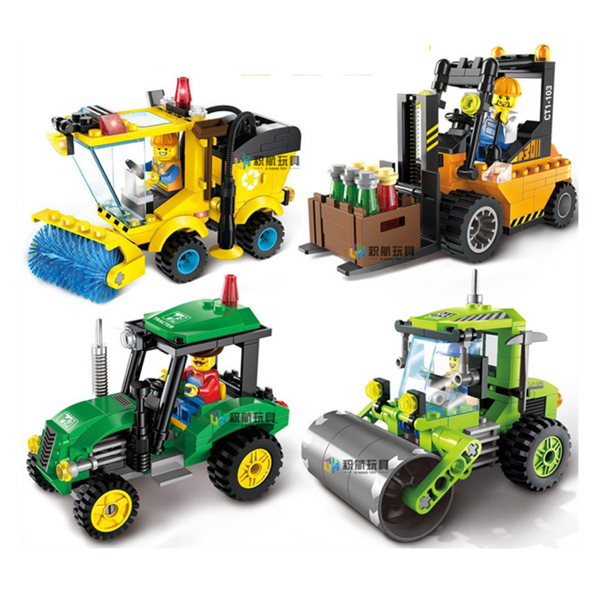 Hot Blocks Constructor Firefighting Sweeper City Series Assembled Educational Christmas Toys for Children Boys Legoings