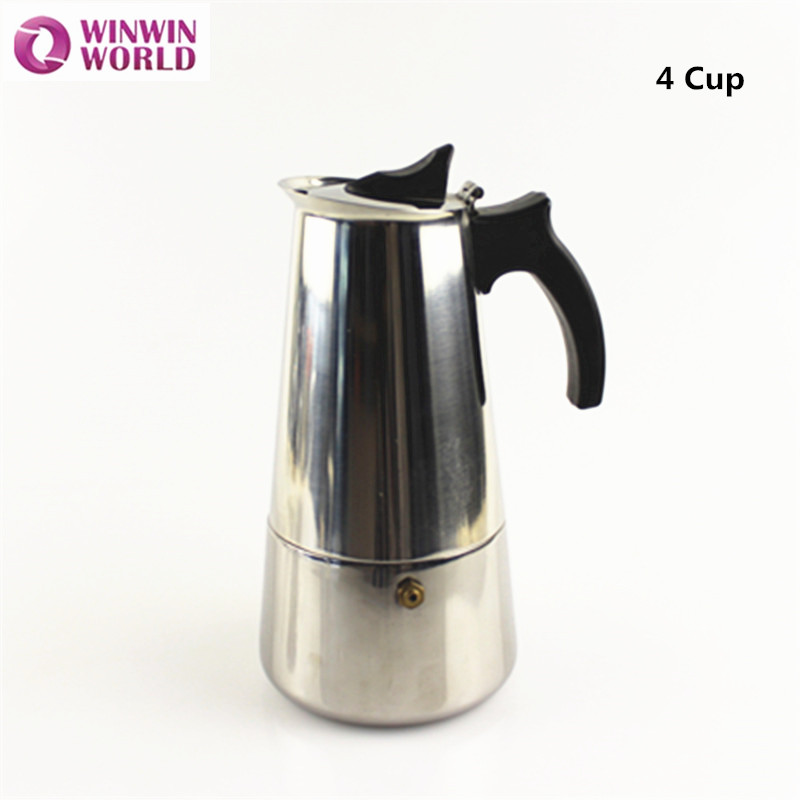 4 Cup Vintage Italy Coffee Maka Pot Italian Espresso Maker Stainless Steel From China Ww Fe005 On Aliexpress Alibaba Group