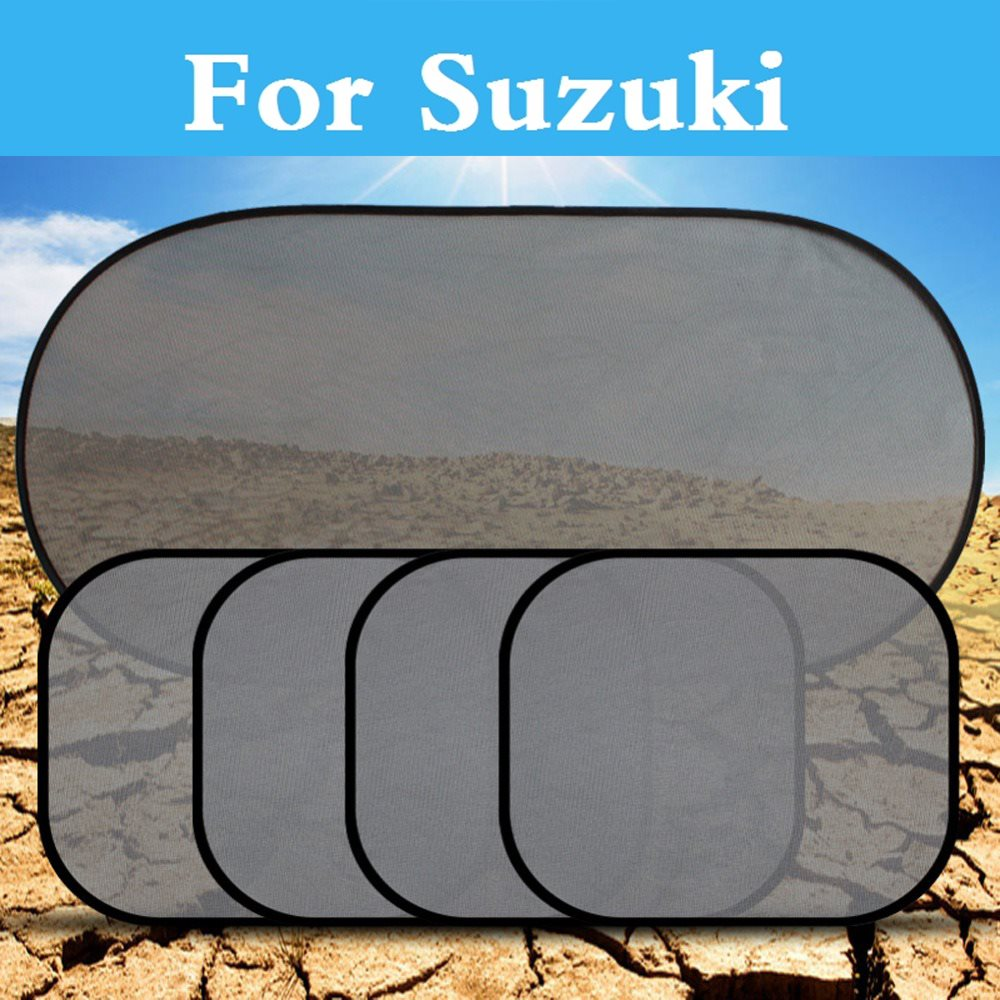 5Pcs/lot Car Rear Side Window Sunshade Mesh Cover styling For Suzuki Aerio Baleno Celeri ...