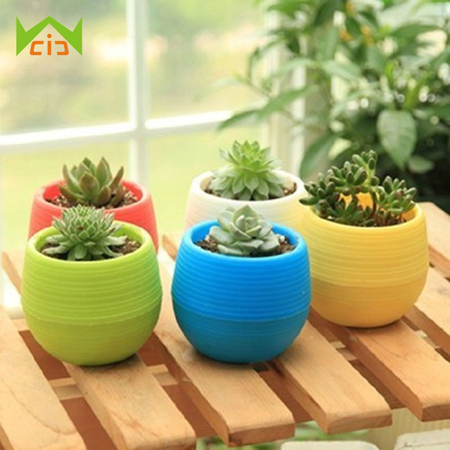 Cute Flower Pots Mini Flowerpot Garden Unbreakable Nursery For Succulent Plants Planter Pot Home