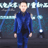 Baby Kids Blazers Vests Suit for Prom Daily Casual Jacket Single Breasted Children's Clothing Flower Boy Custumes for Wedding