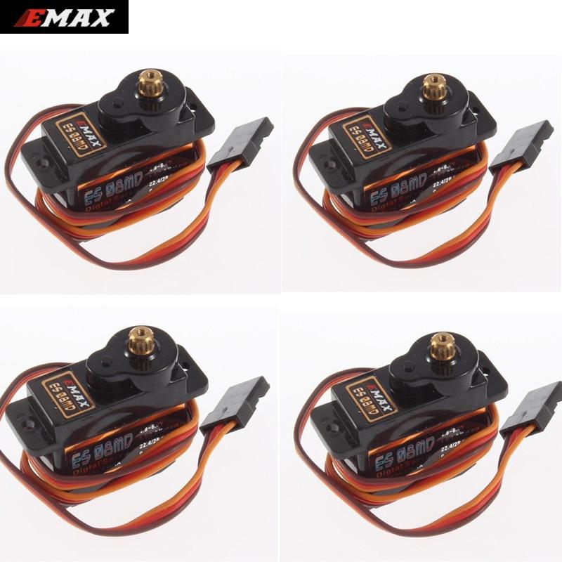 Envío de registro 4x EMAX ES08MDII Metal GEAR Servo Digital a sg90 ES08A ES08MA MG90S TREX 450