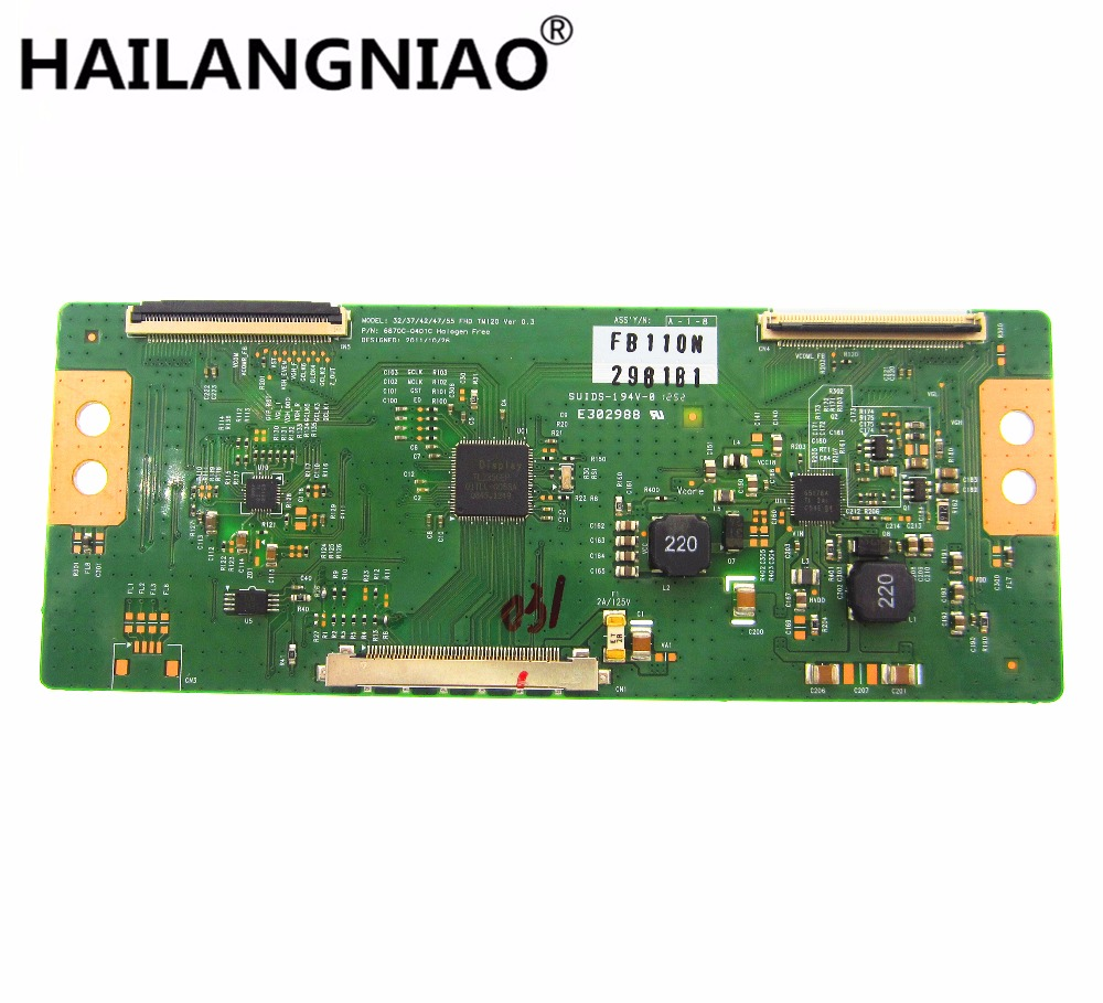 все цены на Free Shipping 1pcs LCD 6870C-0401C 6870C-0401B Logic board 32/37/42/47/55 FHD TM120 Ver 0.2 for 32LS5600 32 LED TV T-CON онлайн