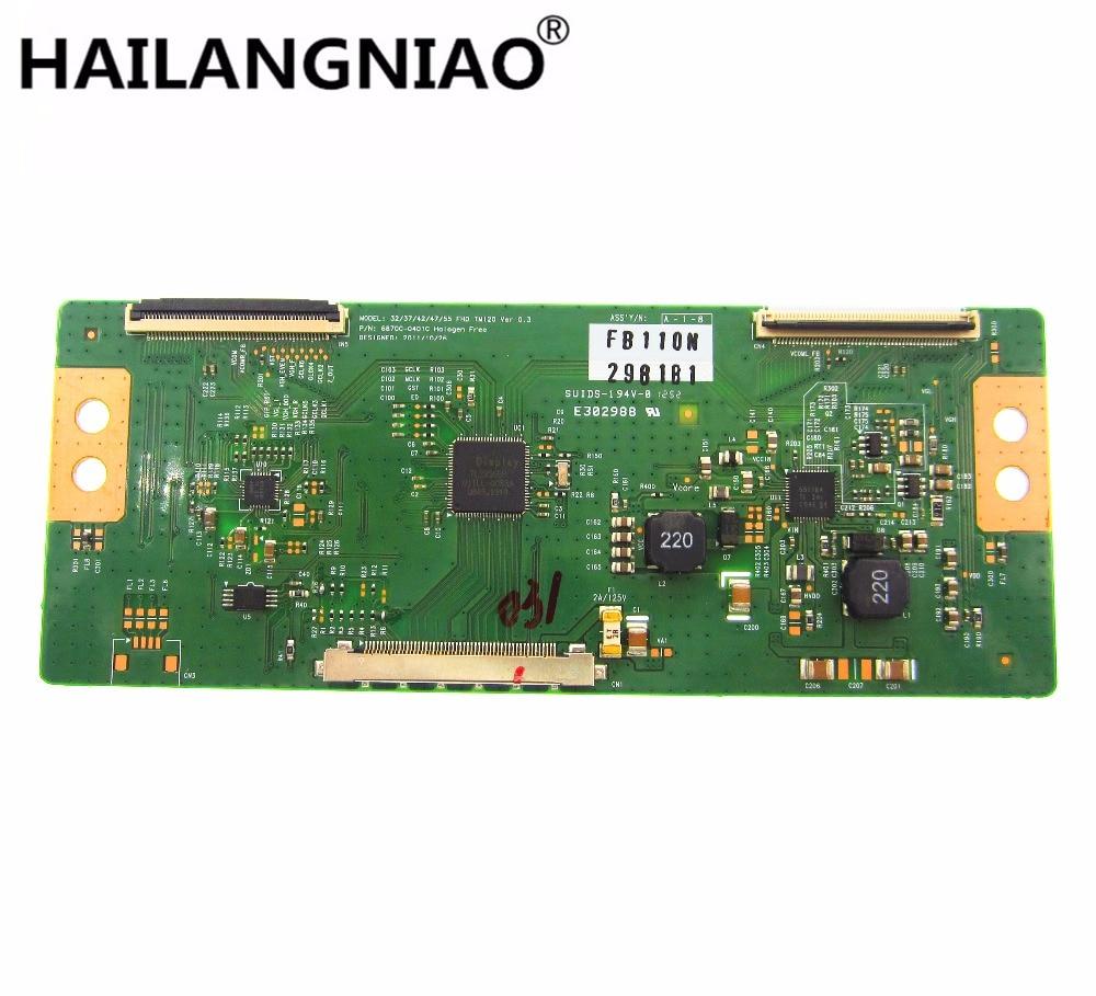new 1pcs LCD 6870C-0401C 6870C-0401B Logic board 32/37/42/47/55 FHD TM120 Ver 0.2 for 32LS5600 32 LED TV T-CON 47 inch lcd screen lc470wx1 sla1 logic board 6870c 0143b