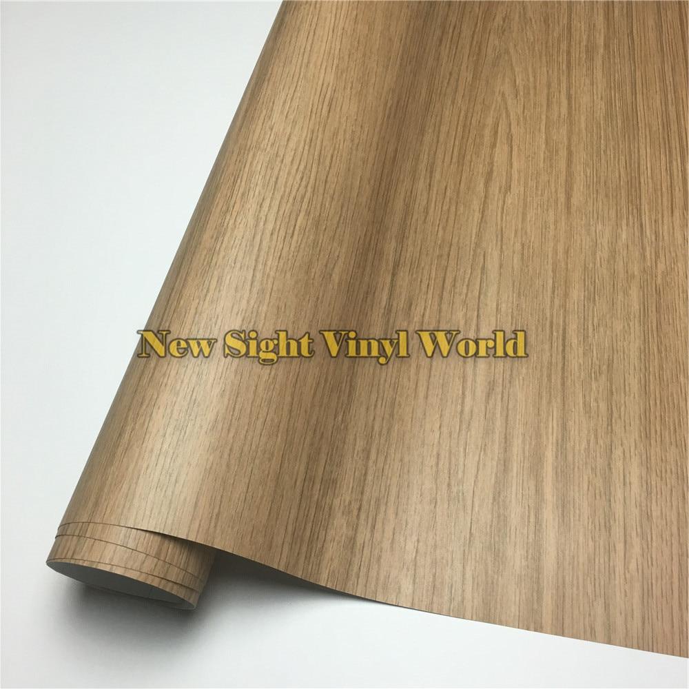 Oak Wood Grain Vinyl Wrap Film Sheet For Floor Furniture