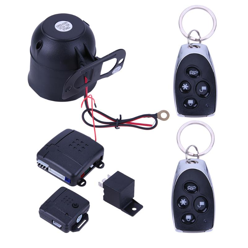 10Types Car Alarm Vehicle System Protection Security System Keyless Entry Siren with 2 Remote Control High Quality Burglar Alarm