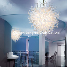 Popular LED Bulbs Resource Glass Ceiling Chandelier for Market Decoration Style Design Roof Lighting