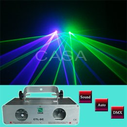 NEW ! 100mW+40mW 532nm Green Laser Light DMX Sound Auto Disco DJ Party Disco Light(CTL-GV)