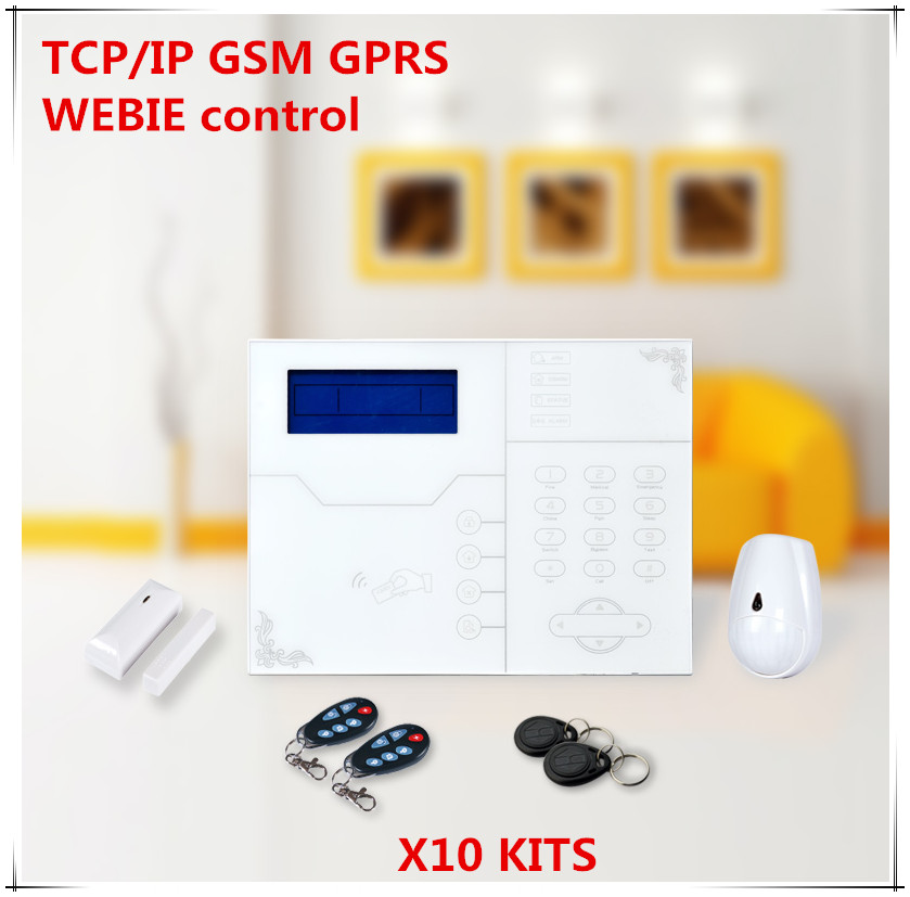 Big Discount 2018 Most Advanced Wireless TCP IP GSM Alarm System SMS Alert Time Arm/Disarm Home Security Protection Alarm System