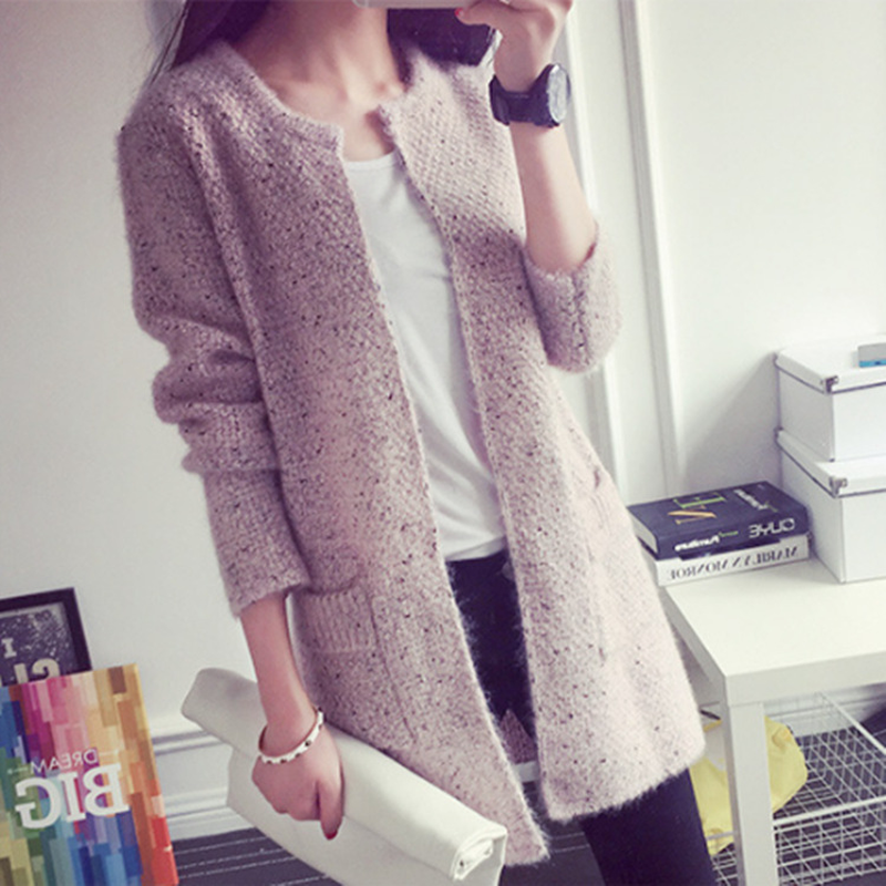 2018 Autumn Winter Fashion Women Long Sleeve Loose Knitting Cardigan Sweater Women Knitted Female Cardigan Pull Femme Cardigan