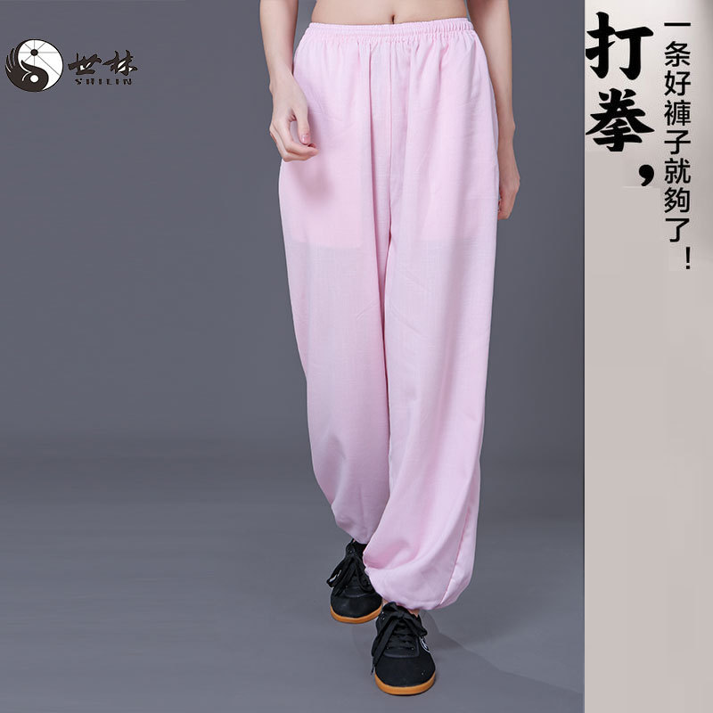 Tai Chi Pants Cotton Hemp For Women Loose Yoga Summer Martial Arts Training Pants Knicker Tai Chi Pants For Men Breathable