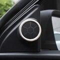 Apare para Toyota Corolla S LE 2014 2015 2016 Novo corola de áudio estéreo do carro de aço Inoxidável Híbrido tampa do orador anel adesivo