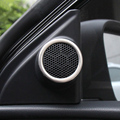 Trim for Toyota Corolla S LE 2014 2015 2016 New Corolla Hybrid Stainless steel car stereo audio speaker cover ring sticker
