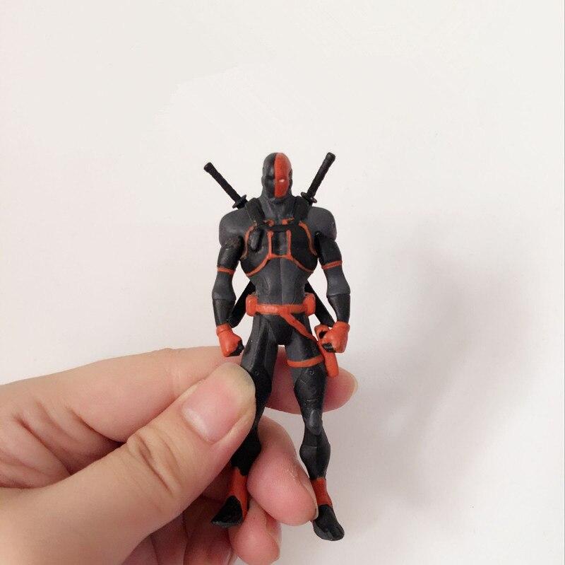 Original Toy Juguetes 9cm DC Batman: Arkham City - Deathstroke <font><b>Terminator</b></font> Action Figure Collectible PVC Model Toy for Kids Gifts