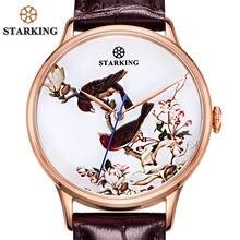 b6f728fa8bf STARKING Homens De Luxo Vestido Relógios Rosa de Ouro Masculino de Aço  Inoxidável Relógios de Pulso