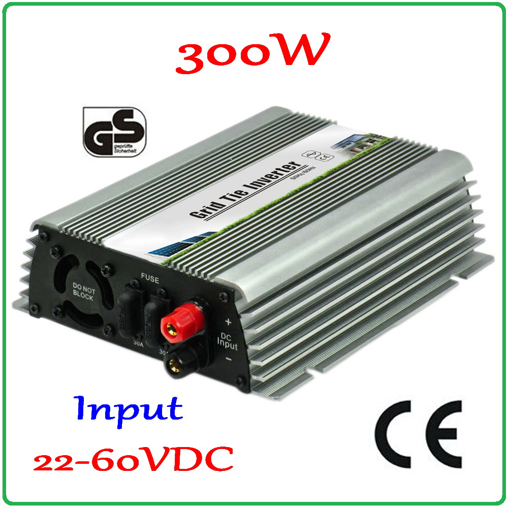 300W Grid Tie Inverter with MPPT Function for 30V 60cells/36V 72cells Panel, 22-60VDC Pure Sine Wave Output 300W Micro Inverter 22 50v dc to ac110v or 220v waterproof 1200w grid tie mppt micro inverter with wireless communication function for 36v pv system