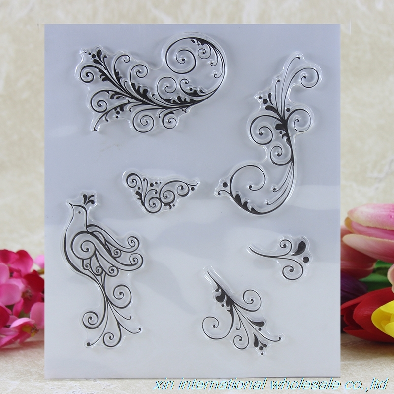 2pcs scrapbook DIY clear stamps card making bird stamp Feather craft stamps ACRYLIC VINTAGE embossing folders from 2012 ea1420 1ms new 0626 coastal bird stamps