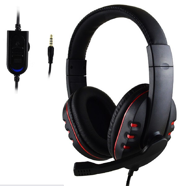 Hot Sale 3.5mm Gamer Over-ear Game Gaming Headphone Headset Earphone Headband with Mic Stereo Bass for ps4