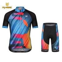 YKYWBIKE ciclismo pro cycling bib shorts kit ciclismo imposta bambini ragazzi maniche corte in jersey Bici Abbigliamento Bicicletta pro foam pad
