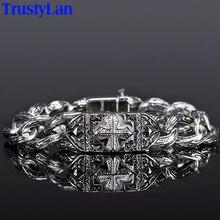 Bracelet pour hommes, Vintage, accessoires, bijoux à chaîne épaisse, maillons, en acier inoxydable, Cool, Style Punk, Cross, 2018