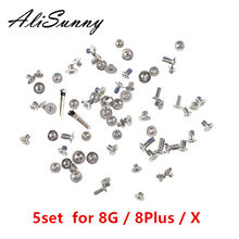 AliSunny 5set Full Screw Set for iPhone 8G 8Plus X XS MAX XR Complete Screws Inner Kits Replacement Parts