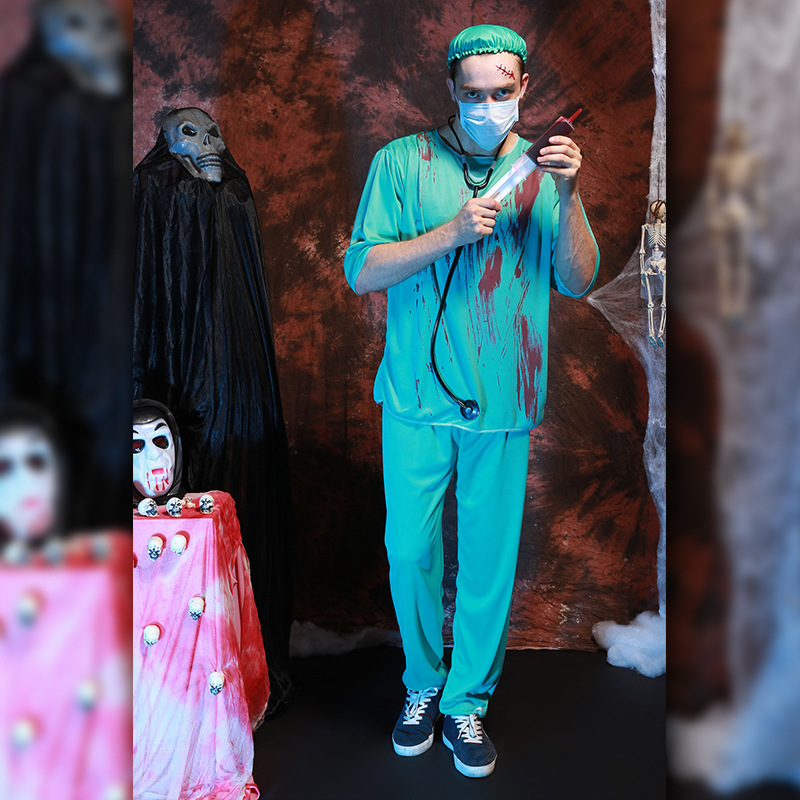 3c89a4f626d18 Free Shipping,adult Halloween Party Cosplay Horror Clothes Bloody Scary  Girl Nurse Costume Dress And Doctor Clothes-in Sexy Costumes from Novelty &  Special ...