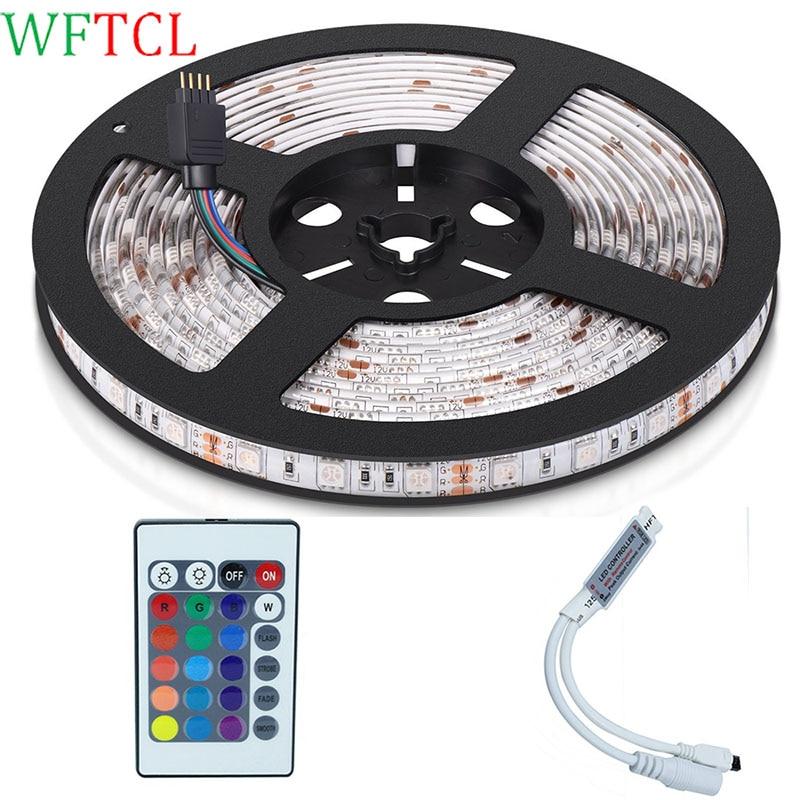Color Changing Tape Light: Led Tape Lights 5M 300LED 5050 RGB LED Ribbon Color