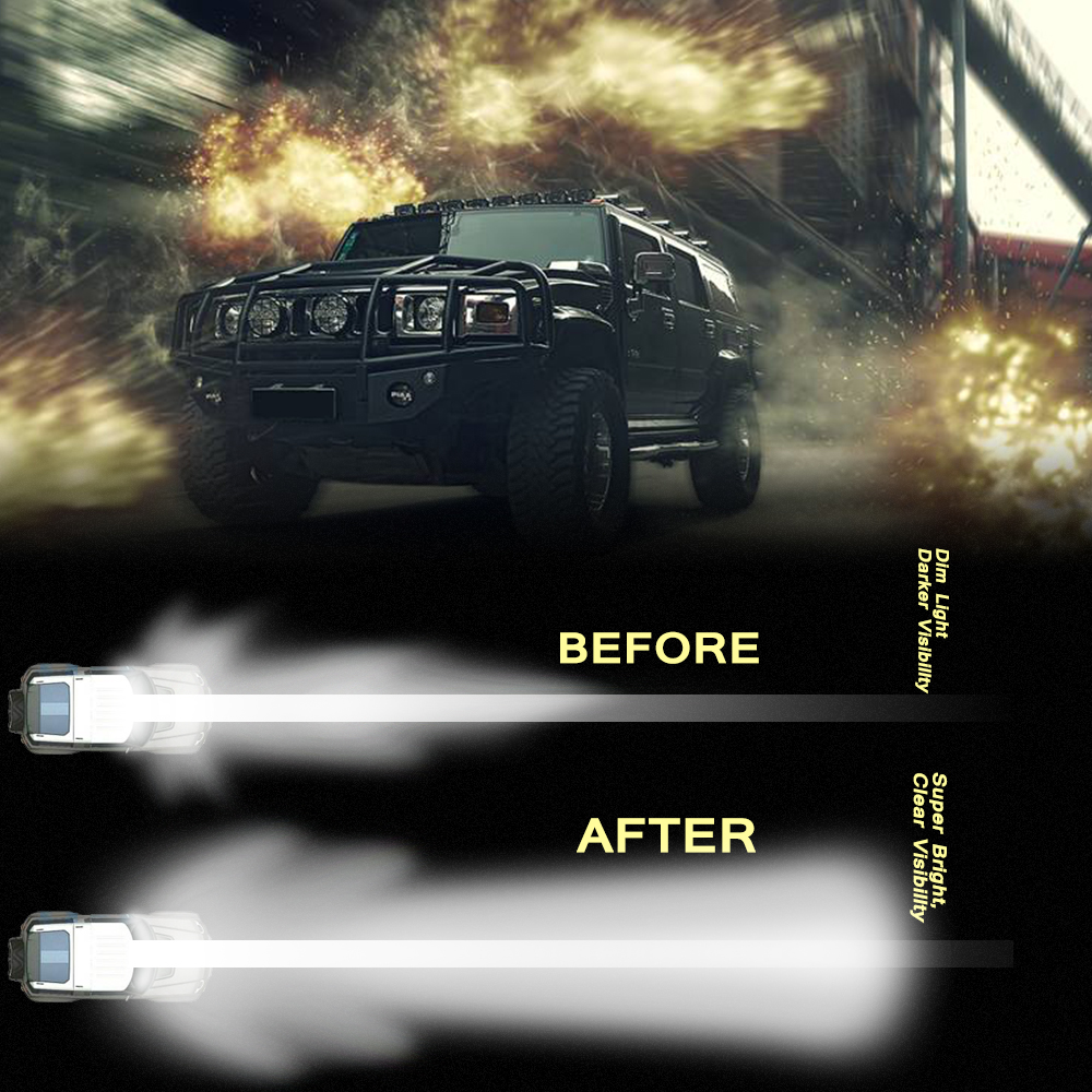 Image 5 - 5 Inch 72W Four Rows Led Light Bar 6000K 10800LM Car Work Light Outdoor Modified Off Road Roof Light Bar Daytime Running Lights-in Light Bar/Work Light from Automobiles & Motorcycles