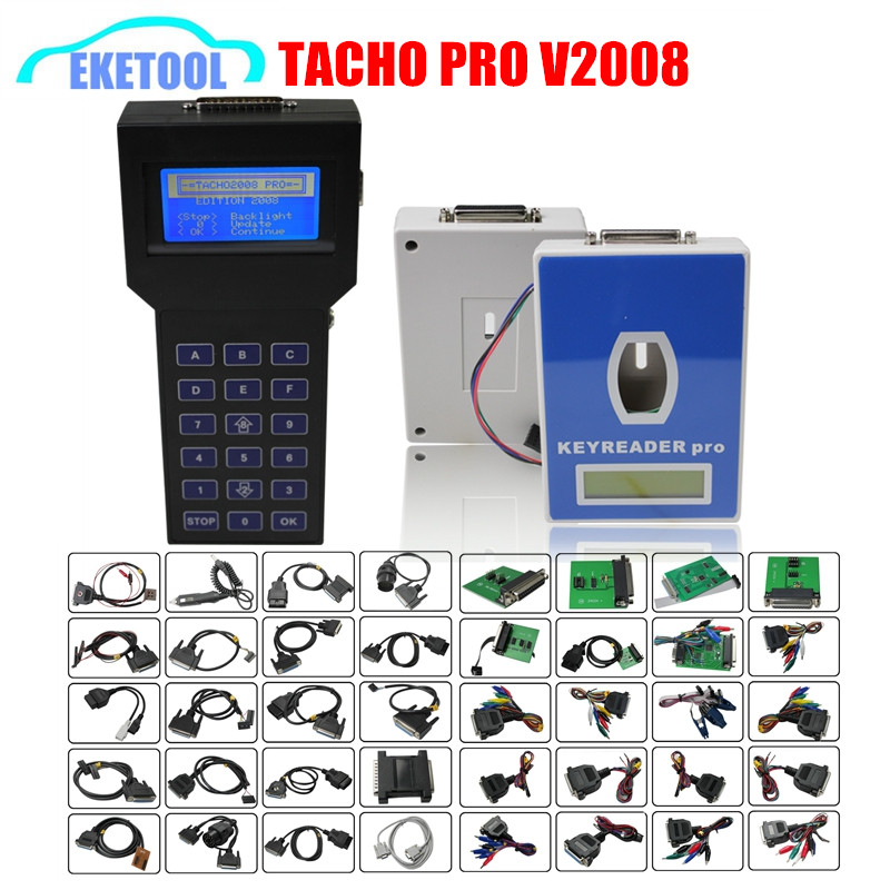 Tacho Pro Plus V2008 07 Easy Operation Mileage Correction Tool TACHO PRO July V2008 Odometer Dash Programmer Full Pacakge