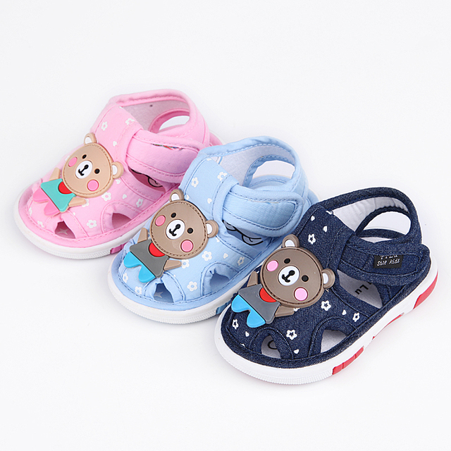 Summer New baby Cotton Fabric Sandals Girls Boys Cute Comfortable Casual  Toddler Shoes Princess Single High Quality Baby Sandals