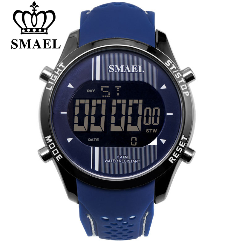 SMAEL Men Watches Outdoor Life Waterproof Sport Watch Men Military Led Digital Wrist Watch Fashion Male Clock Erkek Saat 2021