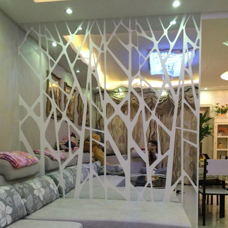 DIY creative geometric patterns mirror surface wall sticker for bedroom living room wall decor custom size wall decals art