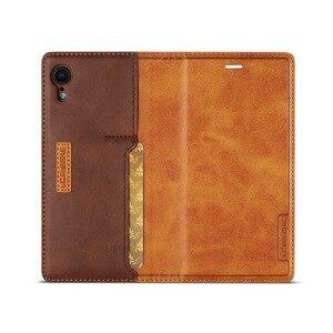 Image 5 - Etui portefeuille magnétique en cuir véritable pour iPhone XR 7 XS Max étuis porte carte pour Coque iPhone X 8 Plus 11 12 Pro