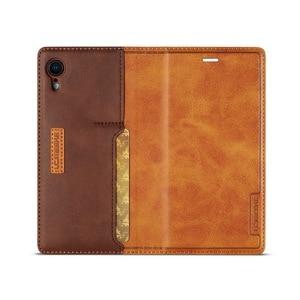 Image 5 - Manyetik hakiki deri Flip cüzdan kılıf için iPhone XR 7 XS Max kılıfları kart tutucu kapak Coque iPhone X 8 artı 11 12 Pro
