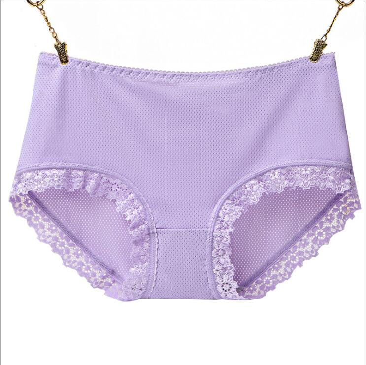 Free Shippig New ice lace ladies big women underwear seamless sexy air waist Size M L XL 7351 in women 39 s panties from Underwear amp Sleepwears