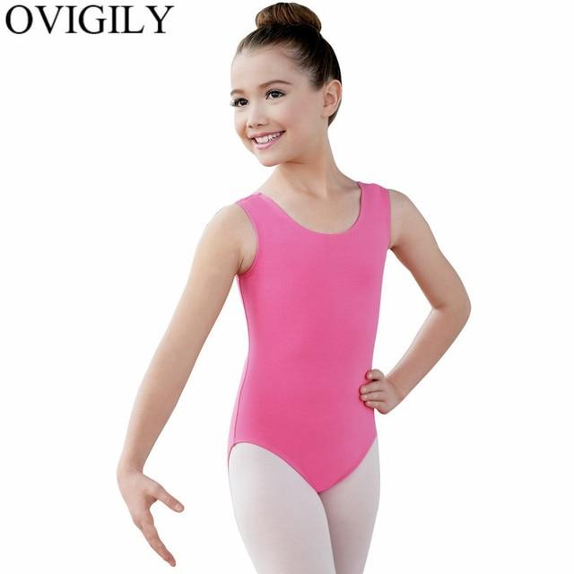 638cd4a9d911 OVIGILY Child Gymnastics Tank Top Leotards For Girls Soft Lycra Pink ...