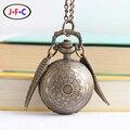 Harry Potter snitch pocket watch relógio dos homens estudantes padrão esférico presente pequenas asas ZS004