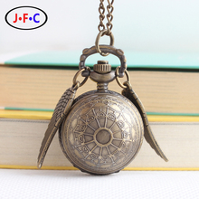 Harry Potter snitch pocket watch the men's watch students spherical pattern gift small wings ZS004(China (Mainland))