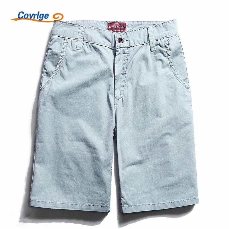 Covrlge Summer Mens Shorts Casual Plus Size Mens Cotton Boardshorts Fashion Short Pants Men Brand Clothing Cargo Shorts MKD014