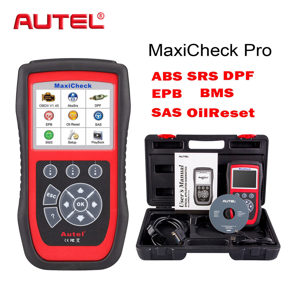 купить Autel OBD2 Scanner EPB/ABS/SRS/SAS/Airbag/Oil Service Reset/BMS/DPF Code Reader MaxiCheck Pro Car Diagnostic Tool Update Online недорого