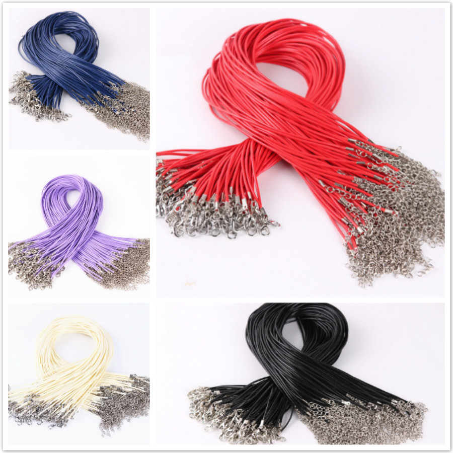 1 Pcs Sell DIY Fashion Wax Rope Power Necklaces Crystal Necklace Women Holiday Beach Statement Jewelry