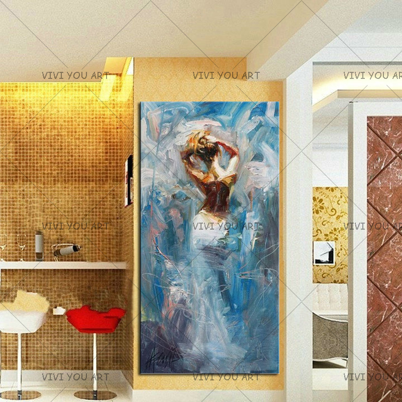 Большой сексуальный Для женщин голая спина фотографии ручная роспись абстрактные Обнаженная масла Картины на холсте современного домашне